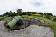 Fort Hamilton i stad av Hamilton - Bermuda royaltyfri bild