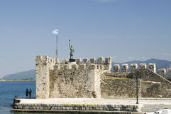 The fort harbor at Nafparktos, Greece Royalty Free Stock Images