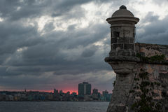 Fort in Havana, Cuba. Morro Castle Spanish: Castillo de los Tres Reyes Magos del Morro, named after the three biblical Magi, is a fortress guarding the entrance Royalty Free Stock Image