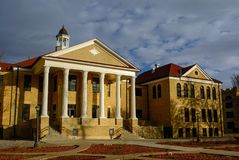 Fort Hays State University Picken Hall Administration Building in Hays, Kansas.  Royalty Free Stock Image