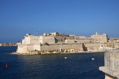 Fort Heilige Angelo, La Valletta, Malta Royalty-vrije Stock Foto