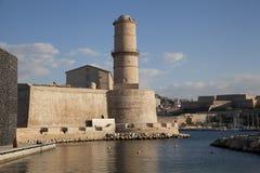 Fort Heilige Jean in Marseille, Frankrijk Stock Afbeeldingen