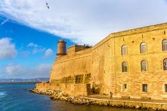 Fort heilige-Jean in Marseille, Frankrijk Royalty-vrije Stock Fotografie