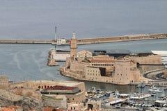 Fort Helgon-Jean, Marseille som är medelhavs-, Frankrike Arkivfoto