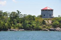 Fort Henry i Kingston, Kanada Arkivbild