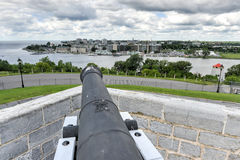 Fort Henry National Historic Site Cannon Arkivfoton