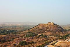 Fort on a hill, Jodhpur Mehrangarh fort boudary Stock Images