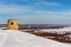 Fort on a hill royalty free stock image