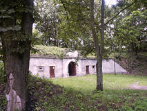 Fort. Historic fort in Modlin Fortress Royalty Free Stock Image