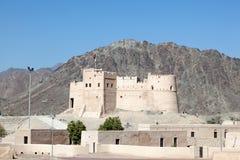 Fort historique au Foudjairah Photo libre de droits