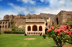 Fort historique de Golkonda Photo stock