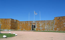 Fort historique de l'Uruguay, San Miguel, cadre de Chuy avec le Brésil Photos stock