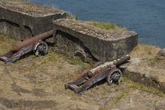 Fort historique de Niebla au Chili du sud photo libre de droits