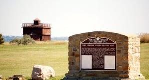 Fort historique du Dakota du Nord images stock