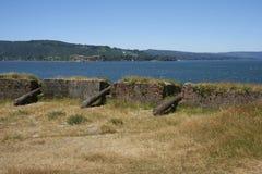 Fort historique protégeant Valdivia au Chili du sud Photographie stock libre de droits