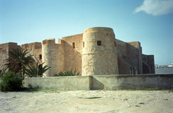 Fort, Houmt Souk, Jerba, Tunesië Royalty-vrije Stock Fotografie