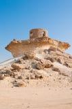 Fort i öknen av Zekreet, Qatar, Mellanösten Arkivbilder