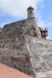 Fort i Cartagena, Colombia Arkivbild