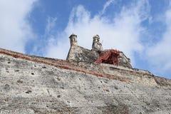Fort i Cartagena, Colombia Royaltyfria Bilder