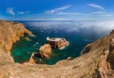 Fort i den Berlenga ön - Portugal Royaltyfri Fotografi