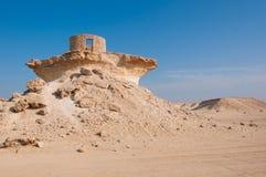 Fort i den Zekreet öknen av Qatar, Mellanösten Royaltyfri Foto