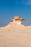 Fort i den Zekreet öknen av Qatar, Mellanösten Royaltyfri Bild