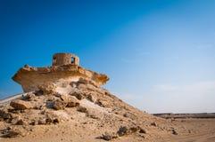 Fort i den Zekreet öknen av Qatar, Mellanösten Royaltyfri Fotografi