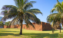 Fort i Maputo, Mocambique Arkivbild