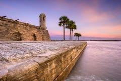Fort i St Augustine Royaltyfria Bilder