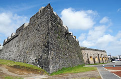 Fort in Ponta Delgada Stockbilder