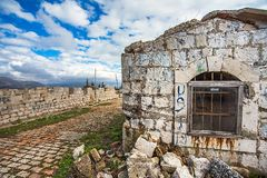 Fort Imperjal auf dem Berg Srd in Dubrovnik Lizenzfreies Stockfoto
