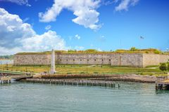 Fort Independence near Boston Stock Photos