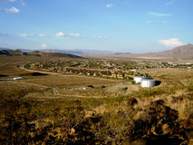 Fort Irwin Army Base. With mountain background Stock Images