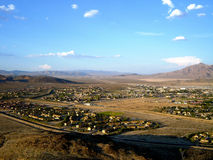 Fort Irwin Army Base - with mountain background. Fort Irwin Army Base in California Royalty Free Stock Image