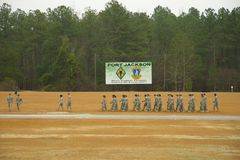Fort Jackson Graduation. Combat Training Graduation Parade at Fort Jackson, SC stock photography