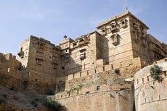 Fort of Jaisalmer. Part of the historic fort of Jaisalmer, India stock photos