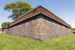 Fort Jay on Governors Island - New York City. Walls of Fort Jay on Governors Island - New York City Royalty Free Stock Images