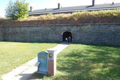 Governors Island. Fort Jay, in Governors Island, which served as a defensive post during the American Revolutionary War, and is now a popular tourist destination Royalty Free Stock Photos