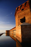 Fort Jefferon Bastion. Fort Jefferson in Dry Tortugas National Park, Florida Stock Photos