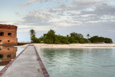 Fort Jefferson. HDR of Fort Jefferson at Dry Tortugas with Clouds Stock Images