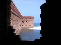 fort jefferson Arkivbild