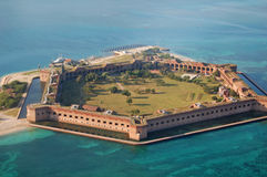 Fort Jefferson aerial view Stock Photo