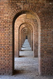 Fort Jefferson Arches. A Series of Arches in Fort Jefferson, Dry Tortugas National Park, Florida Keys Stock Photo