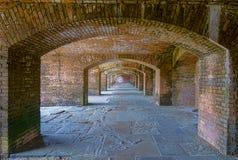 Fort Jefferson Archways Front Side 1 lizenzfreie stockfotografie