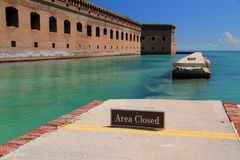Fort Jefferson in the Dry Tortugas royalty free stock photo