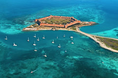 Fort Jefferson - Dry Tortugas National Park. Dry Tortugas National Park in Florida. Fort Jefferson Royalty Free Stock Images
