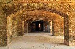 Fort Jefferson in Dry Tortugas National Park, Florida Keys royalty free stock photo