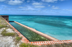 Fort Jefferson at Dry Tortugas National Park royalty free stock image
