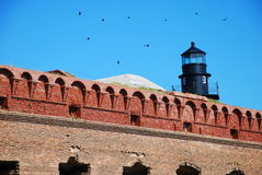 Fort Jefferson en stationnement national sec de Tortugas Images stock