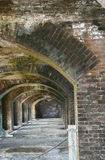 Fort Jefferson inner arches, Dry Tortugas, Florida Royalty Free Stock Photo